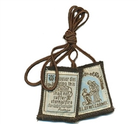 B: Blue Brown Mt. Carmel Scapular