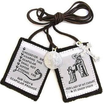 C: Traditional Brown Scapular with Brown Cord