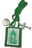 Immaculate Heart of Mary Green Scapular 1012