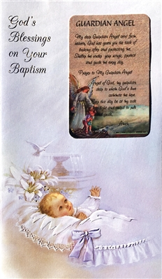 Boy God's Blessings on Your Baptism Greeting Cards RA11-3218