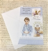 May God Bless You on Your First Communion Day Boy Greeting Card 11-3077