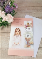 May God Bless You on Your First Communion Day Girl Greeting Card 11-3078