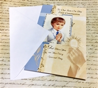 To Our Son On His First Communion Greeting Card 11-3079