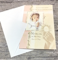 To Our Daughter On Her First Communion Greeting Card