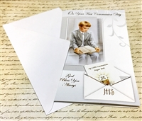 Boy On Your First Communion Day God Bless You Always Greeting Card 11-3198