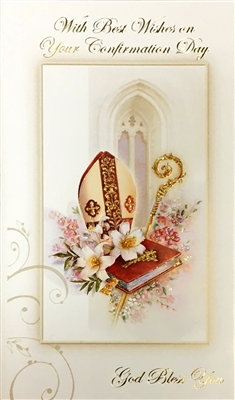 With Best Wishes on Your Confirmation Day Greeting Card 11-3204