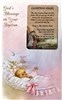 Girl God's Blessings on Your Baptism Greeting Card RA11-3219