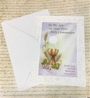 To My Son on Your First Holy Communion Greeting Card  11-3223