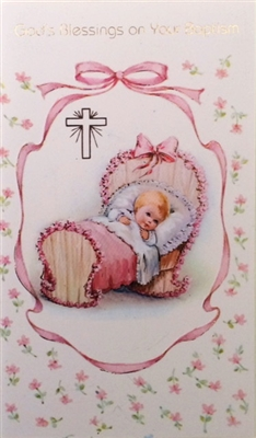 God's Blessing on Your Baptism Girl Greeting Card 11-6003