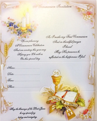 First Communion Invitations 11-9000