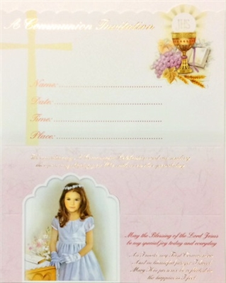 Girl First Communion Invitations 11-9023
