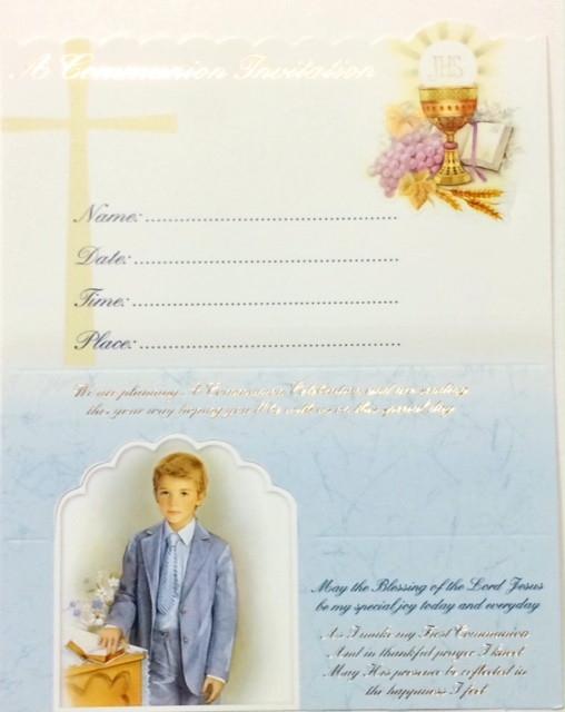 Boy First Communion Invitations 11 9024
