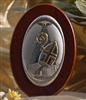 Italian Silver Confirmation Oval Standing Plaque