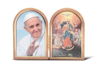 Pope Francis and Our Lady Of Undoer of Knots Bi-Fold Plaque 1204-574-906