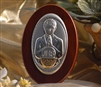 ITALIAN SILVER FIRST COMMUNION BOY STANDING ICON