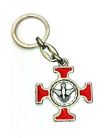 Red Enameled Holy Spirit Key Chain 1451-06