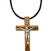 Olive Wood Neck Crucifix