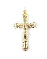 Inexpensive Gold Crucifix 16-0120