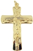 "3"" GOLD HOLY TRINITY CRUCIFIX 16-08965"
