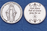 Hail Mary Miraculous Medal Pocket Token (Coin) 171-25-0008