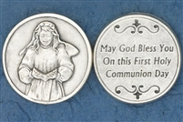 First Communion Girl Pocket Token (Coin) 171-25-0086
