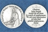 Saint Joseph The Worker Silver Pocket Token 171-25-2057