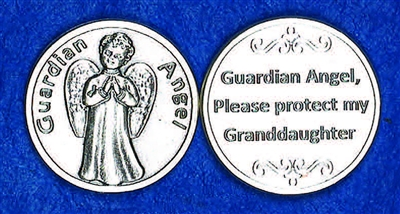 Guardian Angel Granddaughter Pocket Token (Coin) 171-25-2088-P