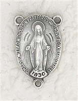 Miraculous Medal Oval Rosary Center Piece 171-42-1418