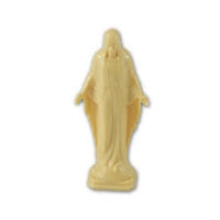 4 inch Our Lady Of Grace Tan Statue