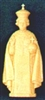 4 inch Infant of Prague Tan Statue
