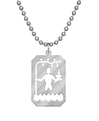 Genuine U.S. Military Issue Saint Christopher with Beaded Chain
