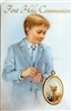 First Holy Communion Boy Holy Card 1870-FCB