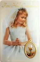 First Holy Communion Girl Holy Card 1870-FCG