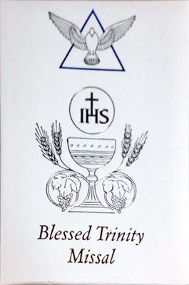 White Blessed Trinity Missal and Prayerbook by Dr Kelly Bowring 2638