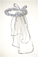 White First Holy Communion Girls Veil RA20011/V