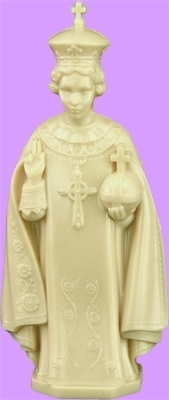 6 inch Infant of Prague Tan Statue