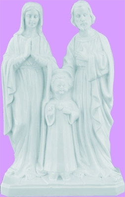 8 Inch White Holy Family Statue 2377W-R