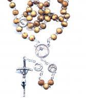 Wood Bead Pope Francis Rosary