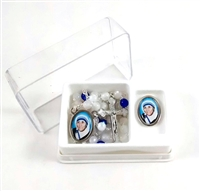 Mother Teresa Rosary and Pin Set