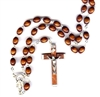 Wood Bead Rosary 26-1105