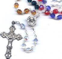 Multi-Colored Aurora Borealis Rosary 22''