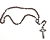 Brown Wood Bead St. Benedict Rosary