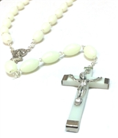 Large Italian Made Luminous Bead Rosary