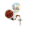 Our Lady of Fatima Rose Petal Rosebud Rosary