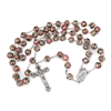 Pink CLOISONNE BEAD ROSARY 26-672-06