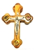 Olive Wood Three-Elements Crucifix