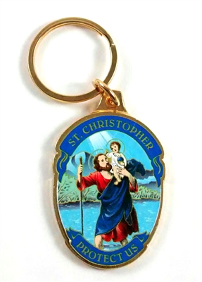 Saint Christopher Keychain