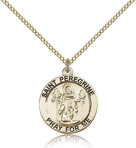 Filled st peregrine pendant gf lite curb chain 34 x 34 gold filled st peregrine pendant gf lite curb chain 34 x 34 mozeypictures Image collections