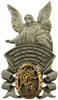 Pewter Guardian Angel wih Gold Saint Michael Medal Visor Clip 42137