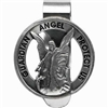 Guardian Angel Pewter Round Auto Visor Clip
